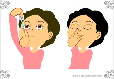 目薬のさし方